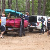 Loading The Trailer With Canoes