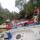 Saffron pprepares for kayaking