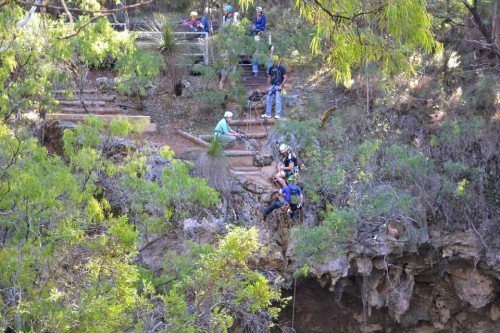 Abseiling At Brides Cave
