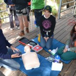Joanne and Liz learn CPR