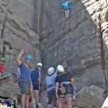 The rock climbing crew