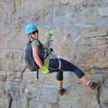 Abseiling agrees with Jennie
