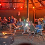 Camp fire gathering