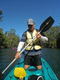 Brian tries paddling Kneeboard style
