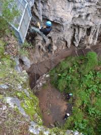 Descent to Brides Cave